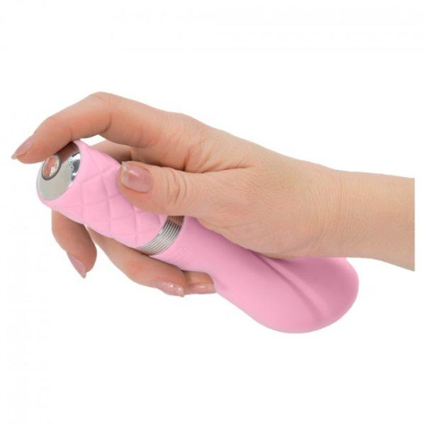 Pillow Talk Sassy G Spot Vibrator Pastel Pink Bottom