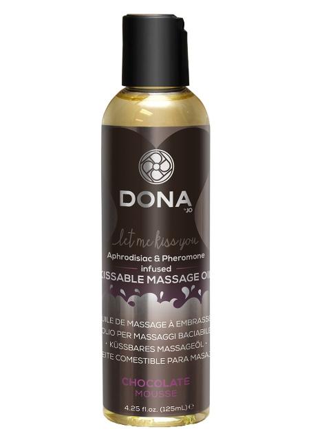 DONA Aphrodisiac & Pheromone Infused Kissable Chocolate Mousse Massage Oil 110ml