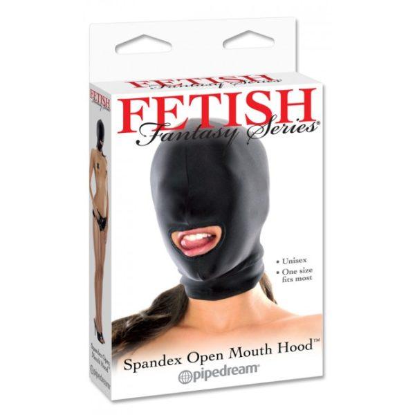 Fetish Fantasy Spandex Lycra Open Mouth Hood Packaging