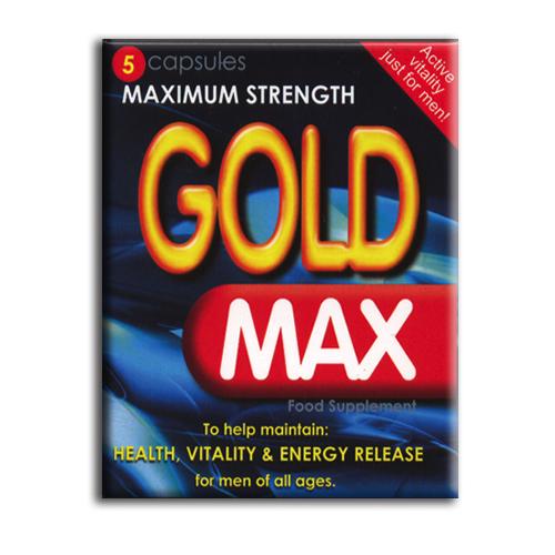 Gold Max Male Enhancement x 5