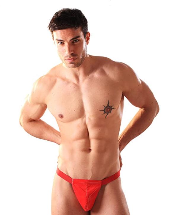 PVC Men's Posing Pouch Red