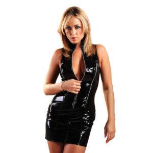 PVC Sexy 3 Zip Justice Dress H2119