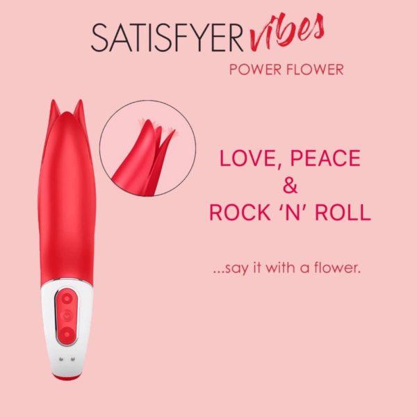 Satisfyer Vibes Power Flower Clitoral Vibrator image