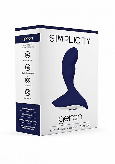 Simplicity GERON Anal Vibrator Packaging