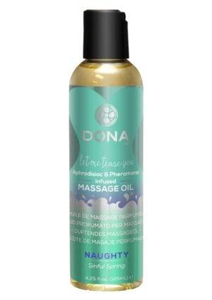 DONA Aphrodisiac & Pheromone Infused Sinful Spring Massage Oil 110ml