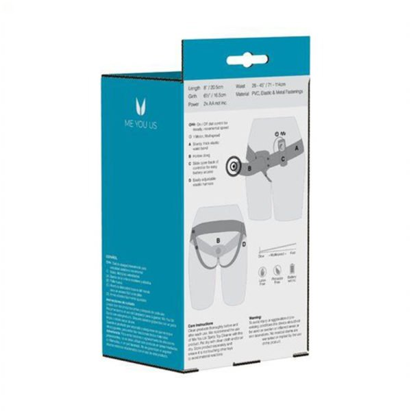 The Extender Plus Vibrating Hollow Strap On Packaging Back