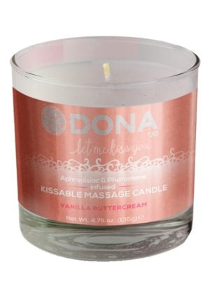 DONA Kissable Massage Candle Vanilla Buttercream
