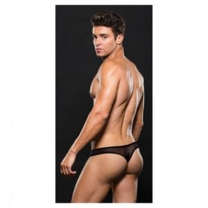 Envy Mesh Thong Black Back