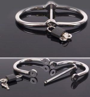 Stainless Steel D-Handcuffs Open