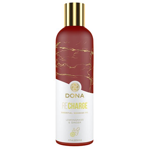 DONA Essential Massage Oil Recharge Lemongrass & Ginger 120ml