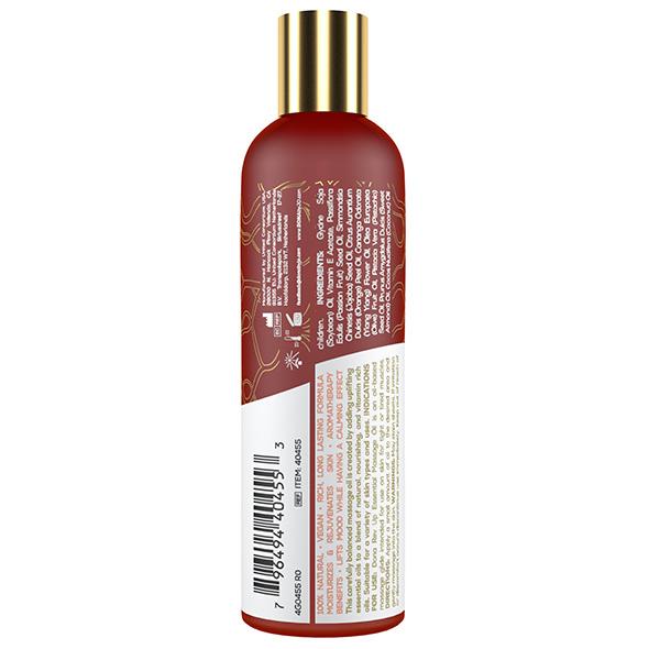 DONA Essential Massage Oil Rev Up Mandarin & Ylang Ylang – 120ml Back