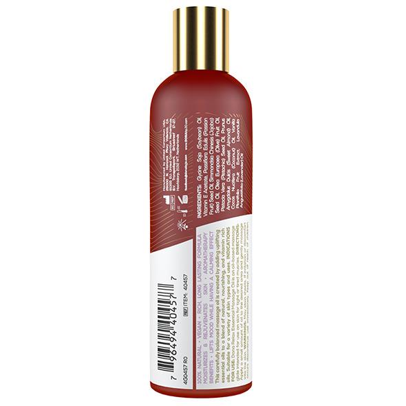 DONA Essential Massage Oil Relax Lavender & Tahitian Vanilla – 120ml Back