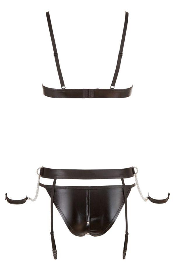 Cottelli Bondage Open Bust & Crotch Suspender Set Product Back