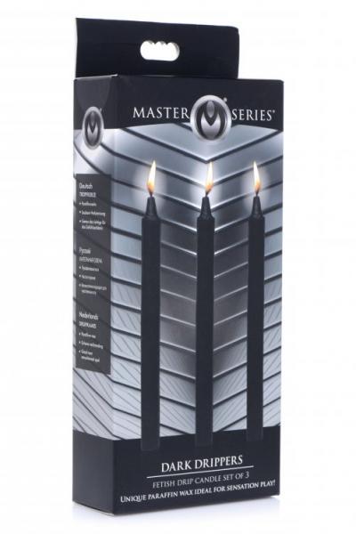 Master Series Dark Drippers Fetish Drip Candles Set of 3 Packaging