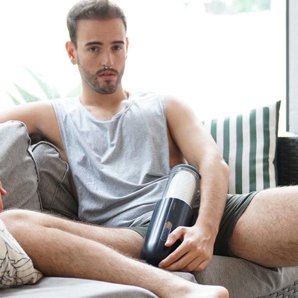 Svakom Alex Neo Interactive App Controlled Thrusting Male Masturbator Lifestyle