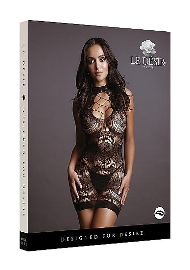 Le Desir Criss-Cross Neck Mini Dress Packaging
