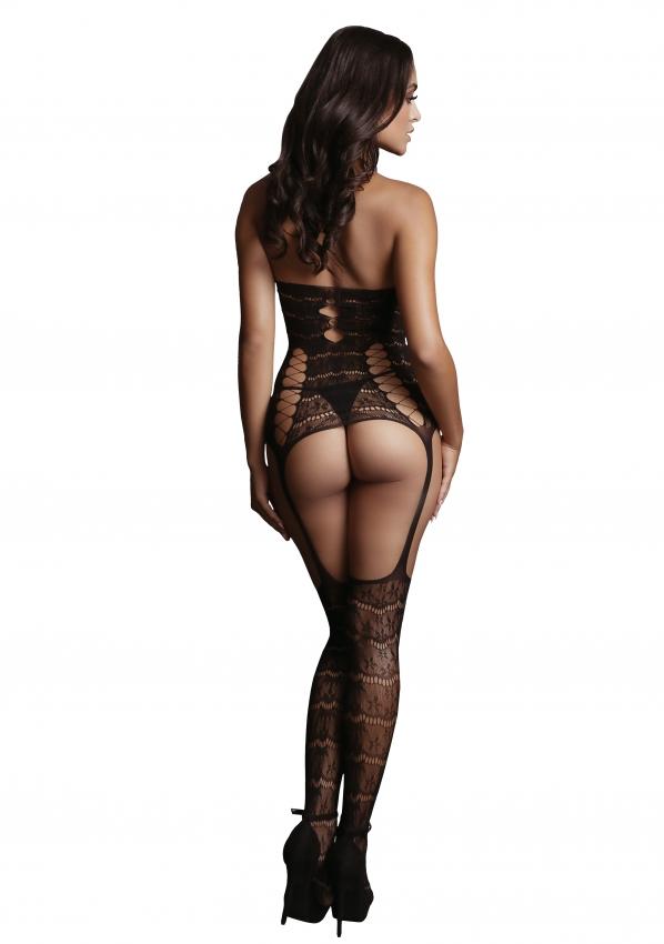 Le Desir Lace Suspender Bodystocking Back