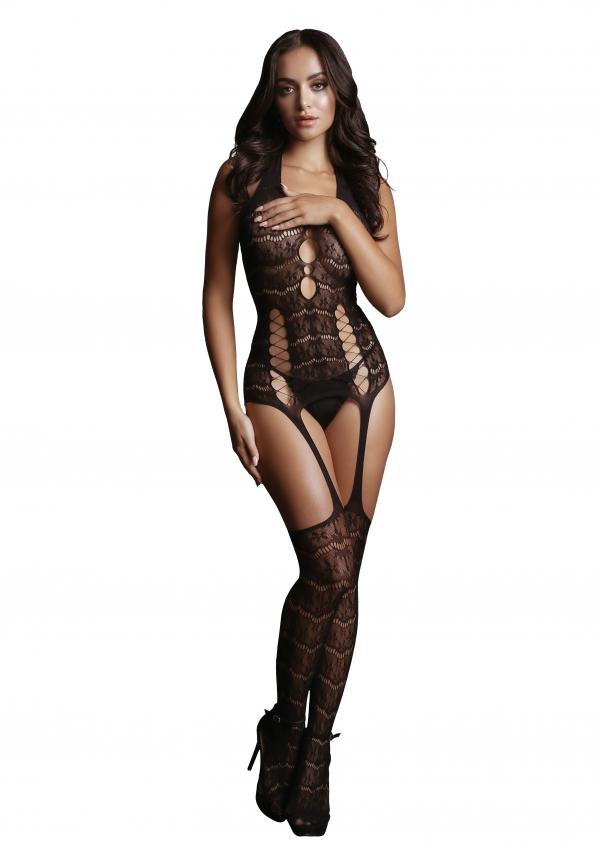 Le Desir Lace Suspender Bodystocking