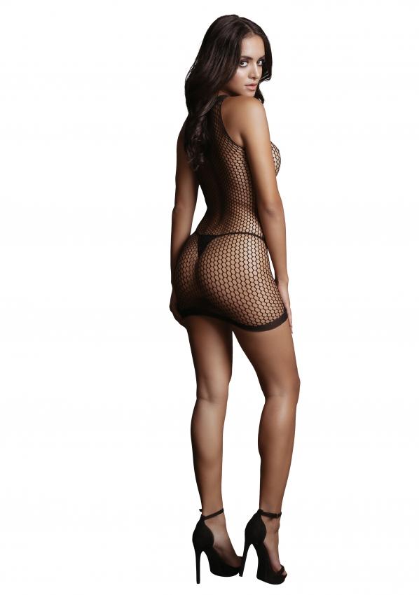 Le Desir Net Contrast Mini Dress Back