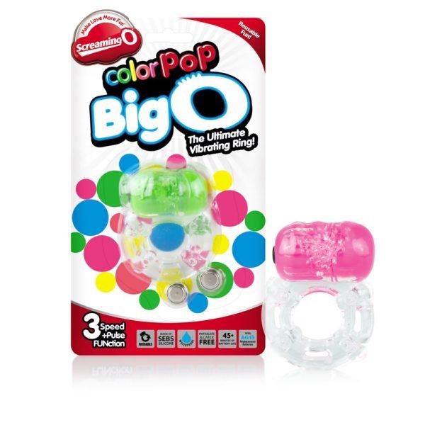 Screamin O Colour Pop Big O- Vibrating Cock Ring Packaging