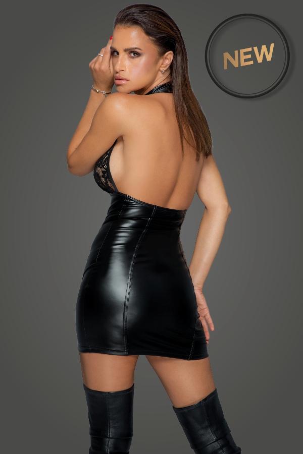 Noir-Handmade F224 Adorable Dress with Long Button Line Back