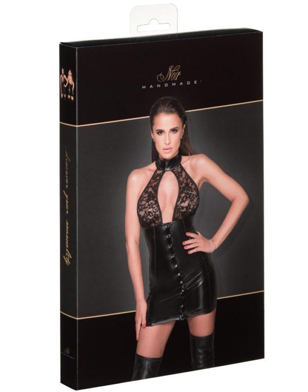 Noir-Handmade F224 Adorable Dress with Long Button Line Packaging