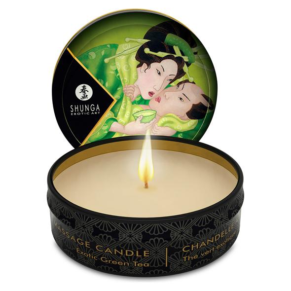 Shunga Mini Massage Candle - Green Tea