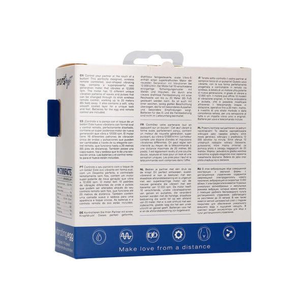 10 Speed Remote Vibrating Egg Blue Packaging Back