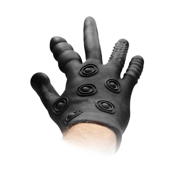 Fist It Silicone Stimulation Glove On Hand