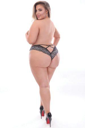 Seven Til Midnight Scalloped Lace Panty Black Plus Size