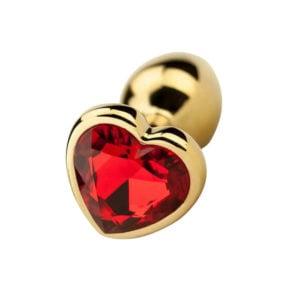 Precious Metals Heart Shaped Butt Plug