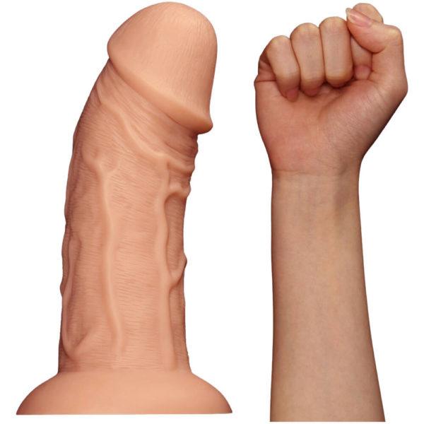 Realistic Curved Dildo 9.5 inch Size Comparison