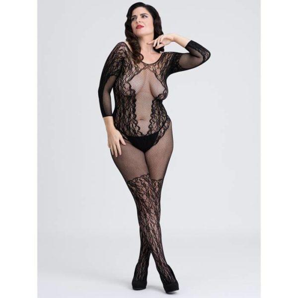 Fifty Shades of Grey Captivate Spanking Lace Bodystocking Plus Size