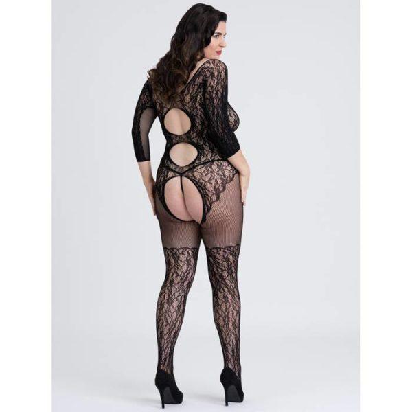 Fifty Shades of Grey Captivate Spanking Lace Bodystocking Plus Size Back
