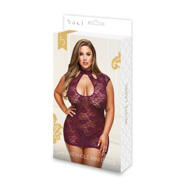 Baci Queen Size Lace Keyhole Mini Dress 3183Q Packaging