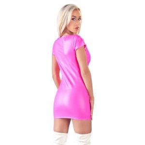 Cottelli Pink Wetlook Dress 2717441 Back
