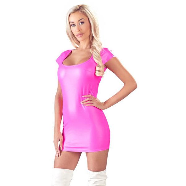 Cottelli Pink Wetlook Dress 2717441 Front