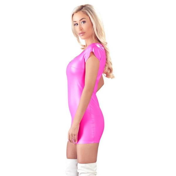 Cottelli Pink Wetlook Dress 2717441 Side