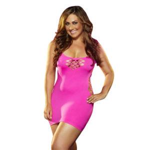 Lapdance Cash Cage Pink Mini Dress Plus Size