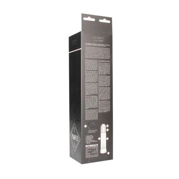Pumped Automatic Luv Pump Penis Enlarger Packaging Back
