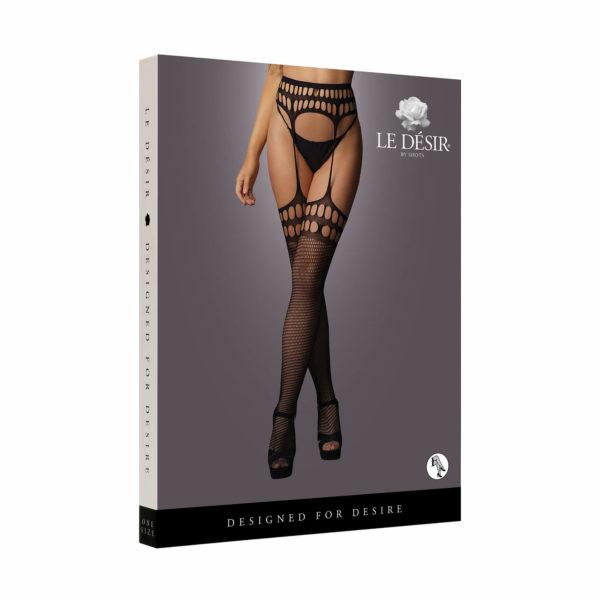 Le Desir Garterbelt Stockings with Open Design Packaging