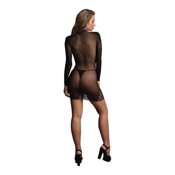Le Desir Long Sleeve Fishnet Dress Back