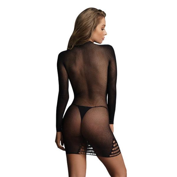 Le Desir Long Sleeve Fishnet Dress Close Up Back