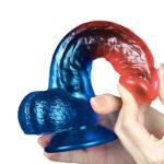 dazzle-studs-8-inch-dildo-with-balls-flexibility