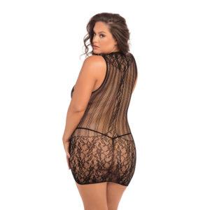 Rene Rofe Plus Size Reckless Lace Mini Dress Back